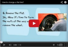 How to change flat tire